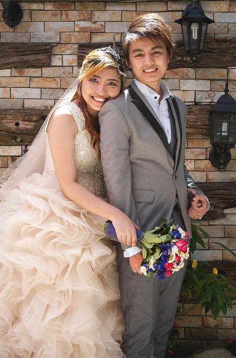 Young couple wedding portrait bungad biluso Silang Cavite