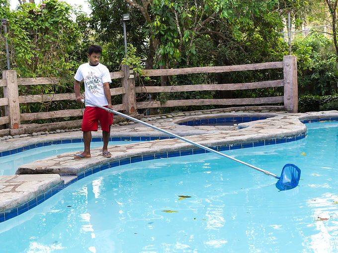 bungad biluso staff cleaning Batis Pool