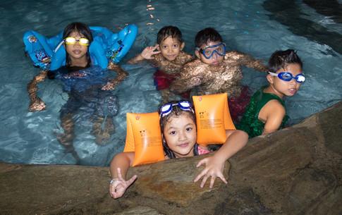 Kids enjoying a night swim at bungad biluso Silang Cavite