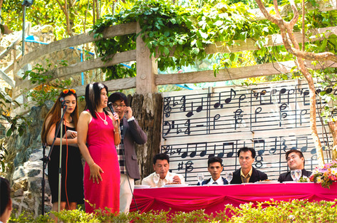 Wedding speech in rustic space bungad biluso Silang Cavite