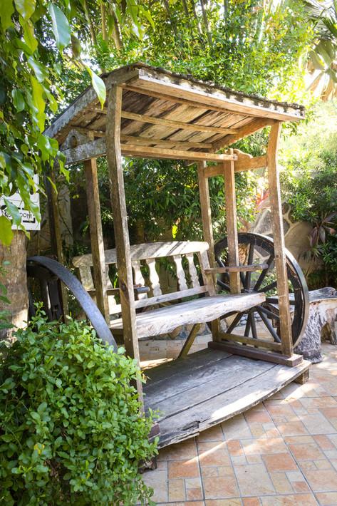 Rustic wooden swing chair bungad biluso Silang Cavite
