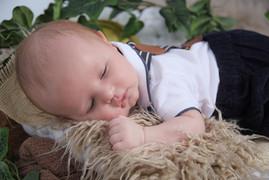baby on shaggy rug
