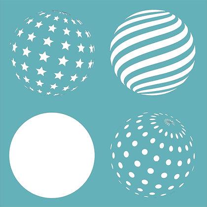 Geo Spheres Stencil