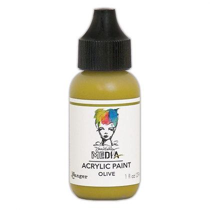 Dina Wakley Media Heavy Body Acrylic Paint - Olive
