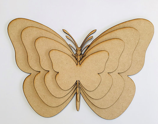 MDF Butterfly Panels - set of 4