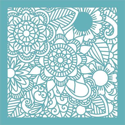 Zen Flower Background Stencil