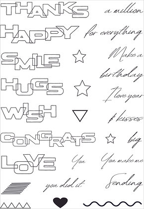 Graphic Words A5 stamp set