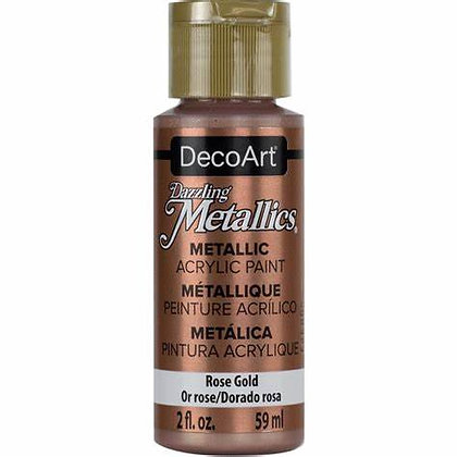 Deco Art Dazzling Metallics Acrylic Paint - Rose Gold