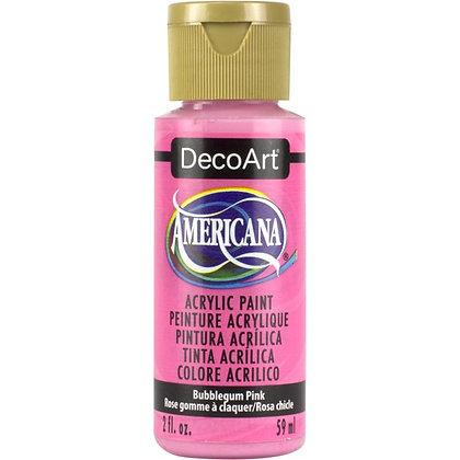 Deco Art Americana Acrylic Paint - Bubblegum Pink