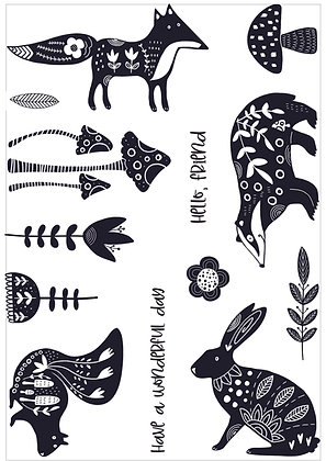 Forest Friends A5 stamp set