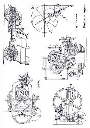Engine Room A5 stamp set