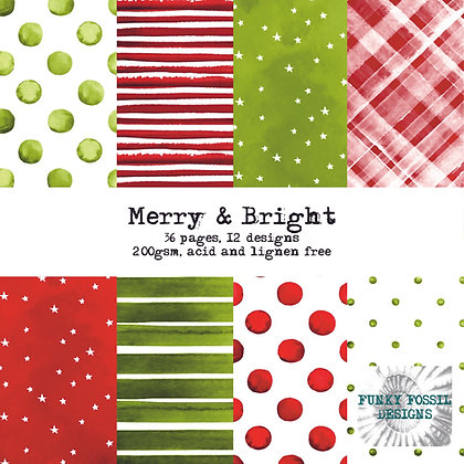 Merry and Bright 6x6 paper pad