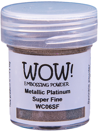 Wow! Metallic Platinum Super Fine Embossing Powder