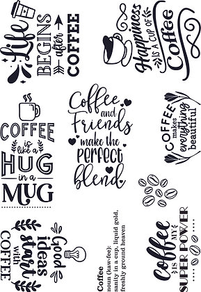 Coffee and Friends A5 stamp set