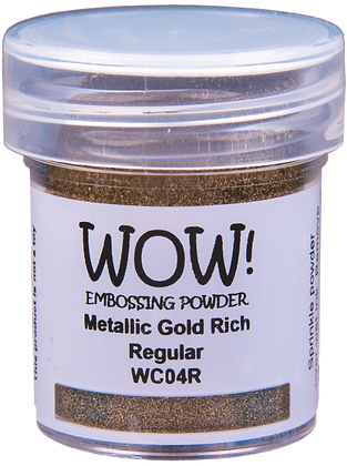 Wow! Metallic Gold Rich Regular Embossing Powder - 15ml jar