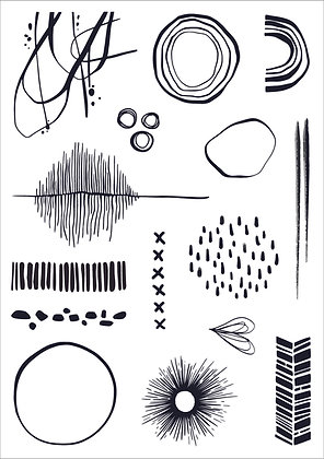 Abstractions A5 Stamp Set
