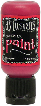 Dylusions Paint - Cherry Pie, 1oz bottle