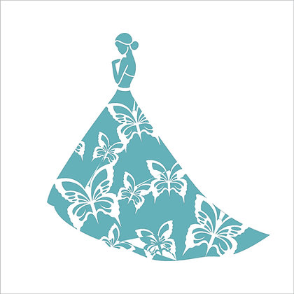 Butterfly Gown Stencil