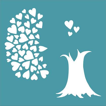 Heartfelt Tree Stencil