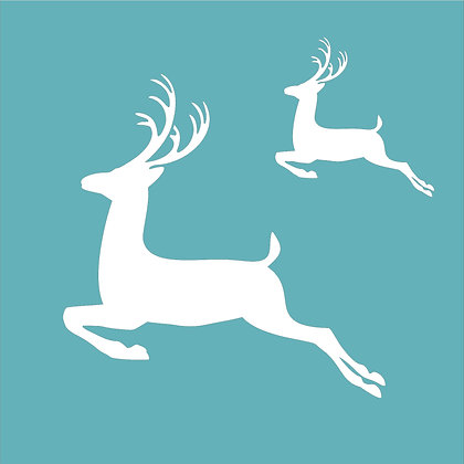 Leaping Stags