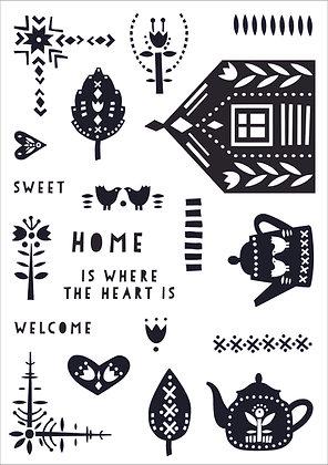 Scandi Home A5 Clear Stamp Set