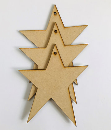 Primitive Hanging Star x 3