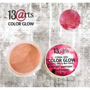 13 Arts Colour Glow - Coral Red