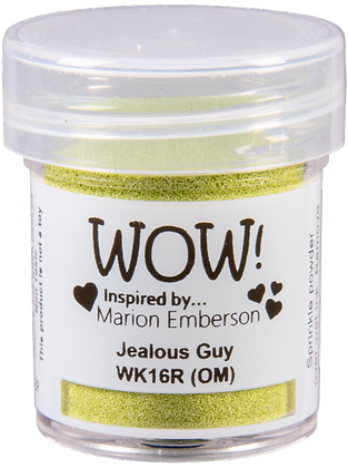 Wow! Jealous Guy Embossing Powder inspired by Marion Emberson