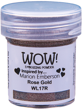 Wow! Rose Gold Embossing Powder by Marion Emberson - 15ml jar