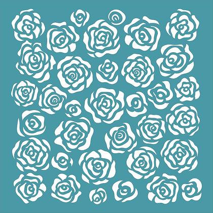 Scribble Roses Stencil