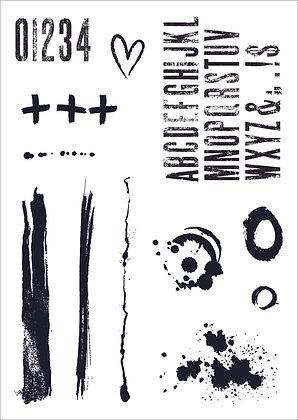 Distressed Elements Stamp Set