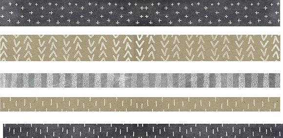 Neutrals Washi Tape - Set of 5