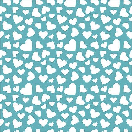 Confetti Hearts Background