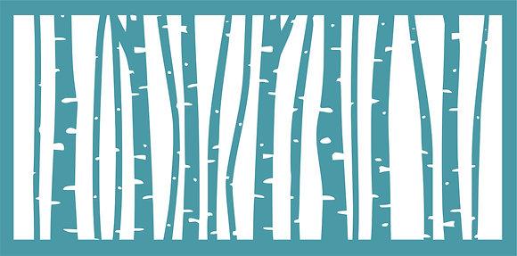Slimline Abstract Birch Stencil