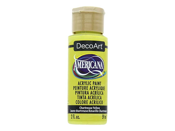 Deco Art Americana Acrylic Paint - Chartreuse Yellow