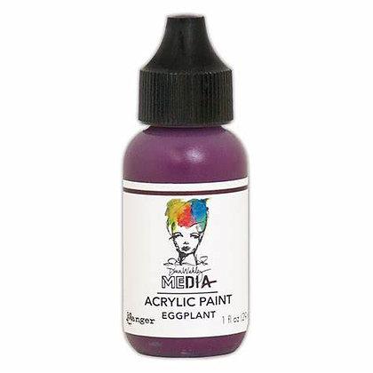 Dina Wakley Media Heavy Body Acrylic Paint - Eggplant