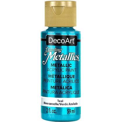 Deco Art Dazzling Metallics Acrylic Paint - Teal