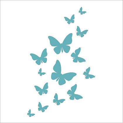 Butterfly Flurry Stencil