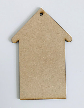 MDF Hanging House Decoration Plain