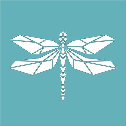 Geometric Dragonfly Stencil