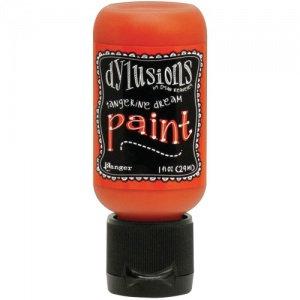 Dylusions Paint - Tangerine Dream, 1oz bottle