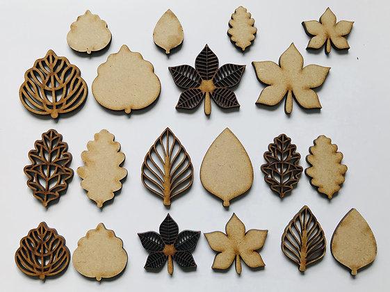 MDF Leaf Embellishments
