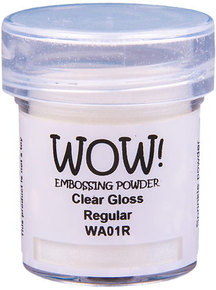 Wow! Clear Gloss Regular Embossing Powder - 15ml jar