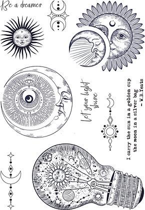 Celestial A5 stamp set