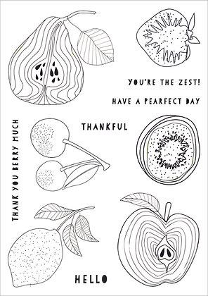 Funky Fruit A5 Stamp Set