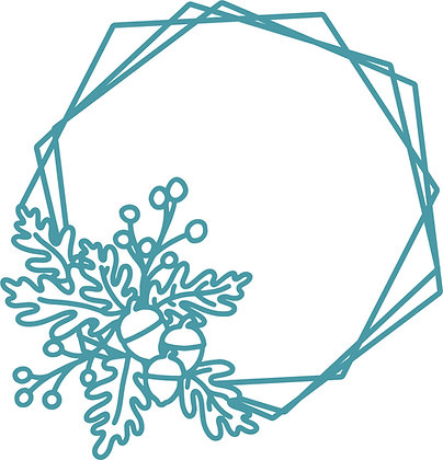 Autumn Hexagon Die