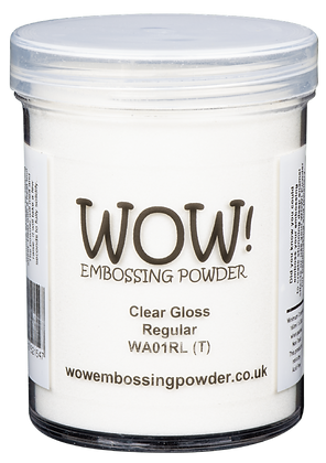 Wow! Clear Gloss Regular Embossing Powder - 160 ml jar