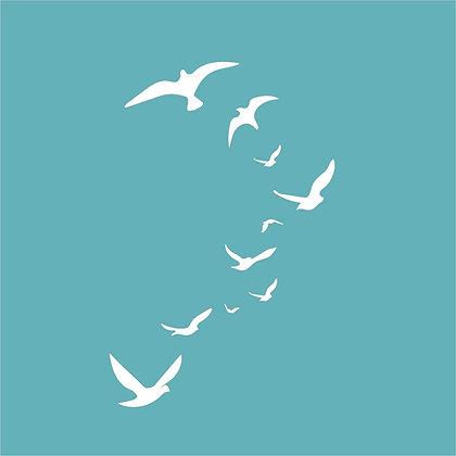 Birds in Flight Stencil