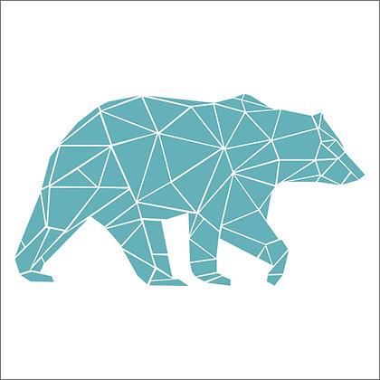 Geometric Bear Stencil