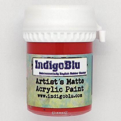 IndigoBlu Artist Matte Acrylic Paint - Postbox Red, 20ml